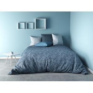 Housse de couette 260x240 cm parure + taies zoe bleu