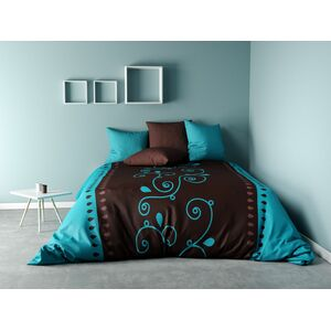 COUETTE IMPRIMEE CACAO BARRY TURQUOISE 400 GSM (IMPRIMEE RECTO / VERSO UNI)