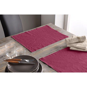 Lot de 2 set de table 30x40 lin et coton raisin
