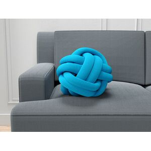 Coussin noeud turquoise