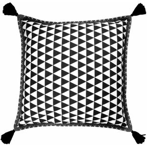Housse coussin 50x50 cm mini triangle nomade 50% coton 50% polyester ecru